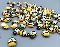 DIY 50-100pcs Wooden 3D art Bee - animal fridge Wall Stickers 13mm * 9mm