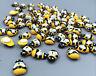 DIY 50/100pcs Wooden 3D art Bee - animal fridge Wall Stickers 13mm * 9mm