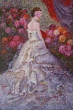 Lady in skirt  - High quality Woman OIL PAINTING Art Deco Modern Canvas Art