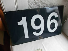 """French porcelain enamel blue and white authentic street sign number """"196"""""""