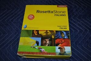 Rosetta Stone Italian Italiano Level 1, 2 & 3 CDs Language Learning System