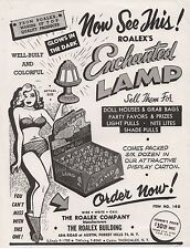 1950s Advertising Flier for the Enchanted Lamp w/ risqué Lady Forest Hills NY