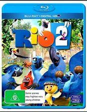RIO 2 New Blu-Ray + Digital Copy ANNE HATHAWAY JESSE EISENBERG ***