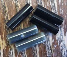Vintage Black Onyx & Gray Polish Barrel Cylinder Gemstone Bead Findings Lot
