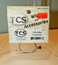 TCS #1301 2-Pin Mini Connector with Black/White Wires NEW