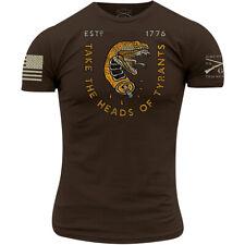 Grunt estilo cabezas de los tiranos T-Shirt-Marrón