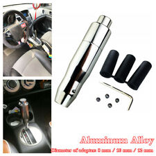 Aluminum Alloy Automatic Car Gear Stick Shift Knob Shifter Lever Cover Button