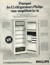 PUBLICITE ADVERTISING 064  1969  PHILIPS   frigidaire réfrigérateur 250l