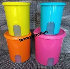 Tupperware One Touch  Canister Set   5 ,8,12,17 1/2  cup New