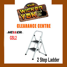 Portable 2 Step Lightweight/Stool/Folding Non-Slip Foldable Ladder GSL2- NEW