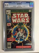 STAR WARS #1 (JULY 1977, MARVEL) CGC 8.5 VF+ WHITE PAGES, 1ST PRINT