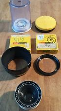 Schneider Kreuznach Retina-Xenon 50mm f/1.9 Prime lens w/ Case, Filters, & Hood