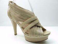 Fergie Graze Nude Leather Platform Strappy Sandal Pumps 8.5M 8.5 MSRP $89