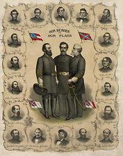 Civil War Prints and Drawings: Our Heroes and Our Flags: Fine Art Print