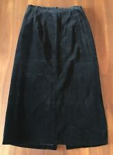 Handmade Bespoke Goth Black Soft Velvet Long Length Lined Pencil Wiggle Skirt 10