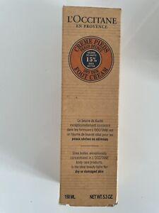 L'Occitane 15% Shea Butter Foot Cream 150ml New Boxed