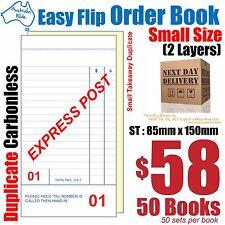 50x Mid Takeaway Duplicate Carbonless Restaurant Docket Order Book 85x170 RD132
