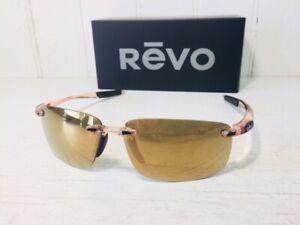 REVO RE4059 10 CH DESCEND N Blush w/ POLARIZED Champagne Lenses Sunglasses $199