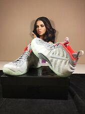 "Nike Air Foamposite ""Pure Platinum"" Wolf Grey Crimson 616750 003 Size 10.5"