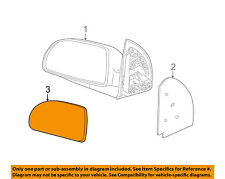 GM OEM Outside Mirrors-Front Door-Mirror Glass Left 22629357