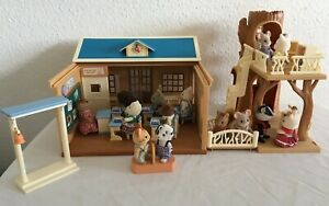 Sylvanian Families St. Francis' School House And Library, Boxed & 14 Figures