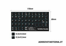 Italian Keyboard notebook Layout Sticker tasti adesivi tastiera tasti 13,5x13,5