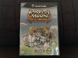 Harvest Moon: Another Wonderful Life (Nintendo GameCube, 2005) Case & Inserts!