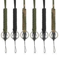 3pcs Paracord Lanyard Keychain Utility Necklace Rope for Outdoor Hiking Camping