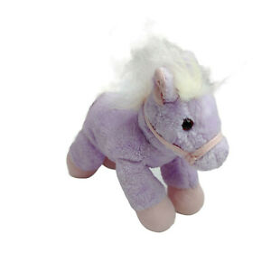 Aurora Pink Horse Pony Plush Soft Stuffed Animal Toy Washed and Clean 16cm