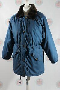 HAWKSHEAD ladies Blue Coat Size L Fur Detachable Adjustable Hood