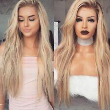 Fashion Womens Wig Ombre Blonde Halve Wavy Hair Long Wave Heat Resistance Wigs