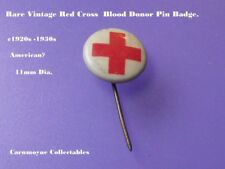 Rare Vintage Red Cross Blood Donor Pin Badge.c1920s-30s 11mm.AH9904.