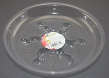 "Clear Plastic Plant Saucer - 8"" RIGID - Indoor / House / Outdoor / Deck / Garden"