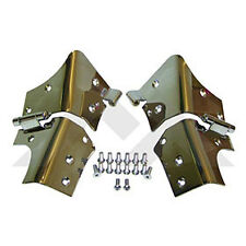 Windshield Hinge Set SS Jeep Wrangler TJ 1997-2006 with new stainless hardware