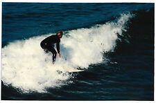 Found PHOTO Young Man Guy In Ocean Surfing On Surfboard