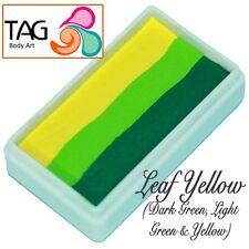 Tag BODY ART ONE STROKE Professional Face Paint Cake (30g) ~ Foglia Giallo