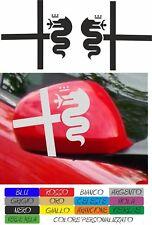 kit 2 adesivi alfa romeo calotte specchietto stickers 156 147 159 mito COD175