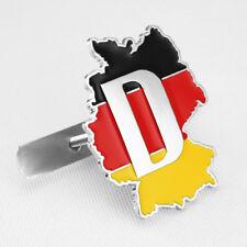 German Flag Map Car Front Grille W/ Mount Accessories Car Badge Emblem Trims