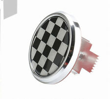 Front Grille Badge Emblem Mesh Metal Checkered Flag England UK British  MINI