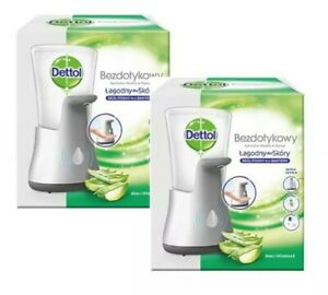 2 x Dettol No Touch Hand Wash System Automatic Soap Dispenser with Refill 250ml