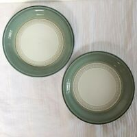 """Denby Langley Venice Green Lot of 2 Bread & Butter Plates 7"""" Stoneware England"""