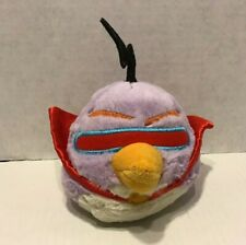 """Commonwealth Angry Birds Space Plush Stuffed Toy Lazer Bird 5"""" with Sound Purple"""