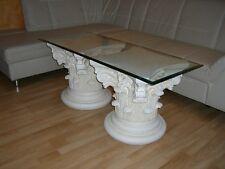 Rechteckiger Glastisch Couchtisch Wohnzimmertisch Beistelltisch Höhe: 50cm Antik