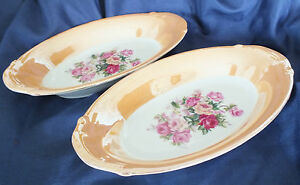 Old Oval Porcelain Dishes Foreign