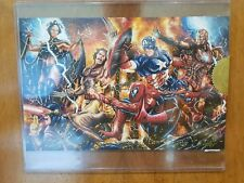 Marvel Greatest Battles Mick and Matt Glebe Avengers vs X Men 4x sketch card ap