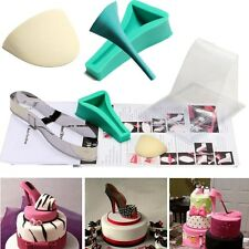 High Heel Shoe Kit Fondant Mould Wedding Cake Decorating Template Silicone Mold
