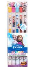 Disney Frozen Colored Smencils 5-Pack of Hb Scented Anna Elsa Olaf Kristoff