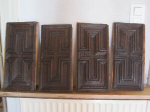4 early 1800' oak carved panels   antiques french architectural salvage