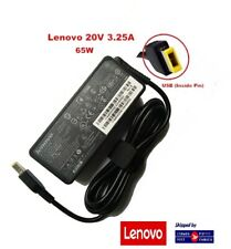 Lenovo 65W 20V 3.25A USB/Square Tip AC Laptop Charger Adapter