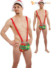 Bauble Mankini Christmas Costume - Mens Hat Fancy Dress Stag Adult Secret Santa